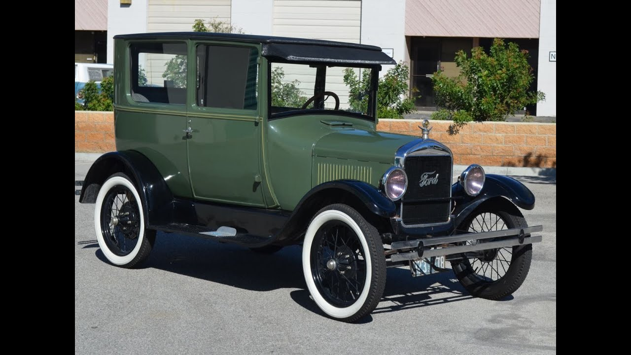 SOLD 1926 Ford Model T Tudor CA  YouTube