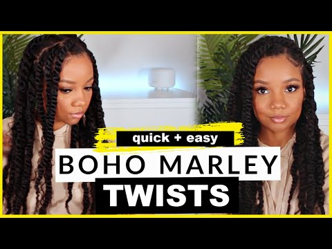 1.5-hour-protective-style-|-😍jumbo-boho-marley-twists-on-natural-4c-hair!