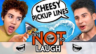 Couples Try Not To Laugh Or Smile While Watching | WORST Pick Up Line Challenge (#162)