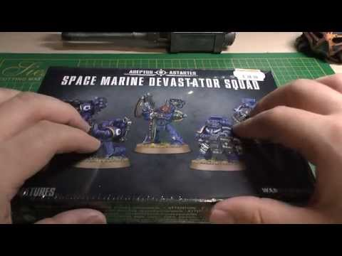 New Space Marine Devastator Squad unboxing and review (WH40K)