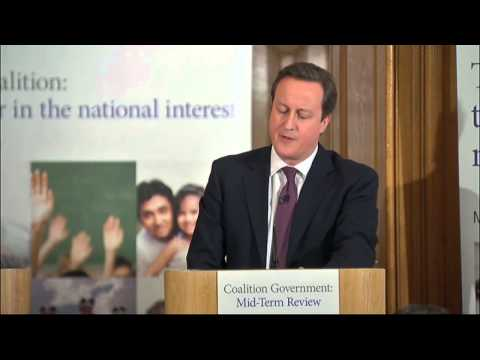 David Cameron and Nick Clegg deliver their coalition report
