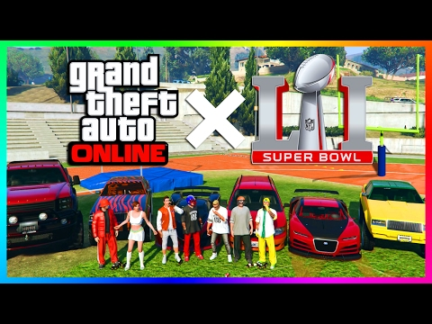 GTA ONLINE RICHEST & MOST FAMOUS SPORTS STARS, PLAYERS CARS + MORE - SUPER BOWL 51 SPECIAL! (PART 1)