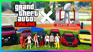 GTA ONLINE RICHEST & MOST FAMOUS GTA 5 SPORTS STARS, PLAYERS CARS + MORE - SUPER BOWL 51 SPECIAL!