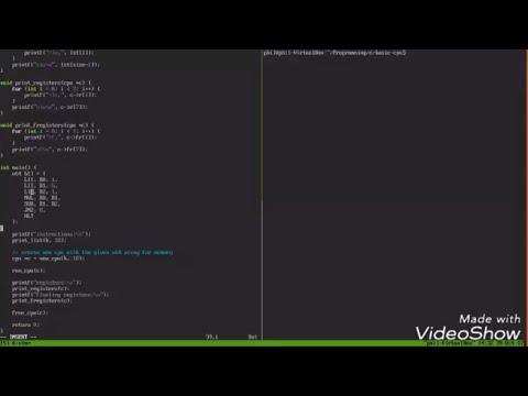 Basic CPU Register based virtual machine in C