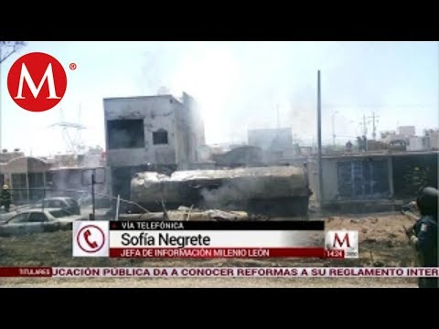 Reportan explosión de pipa de gas en Celaya , Guanajuato