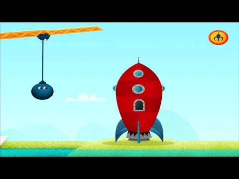 Видео для детей - Подъёмный Кран и смешные блоки. Развивающие игры для малышей