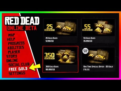 Red Dead Online - NEW UPDATE! FREE Gold Bars, Cash Gift, Store Opening, 2019 DLC Content & MORE! - 동영상