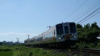 2019/09/16 JR土讃線 土佐大津→後免 特急「南風18号」岡山行(アンパンマン列車) 48D