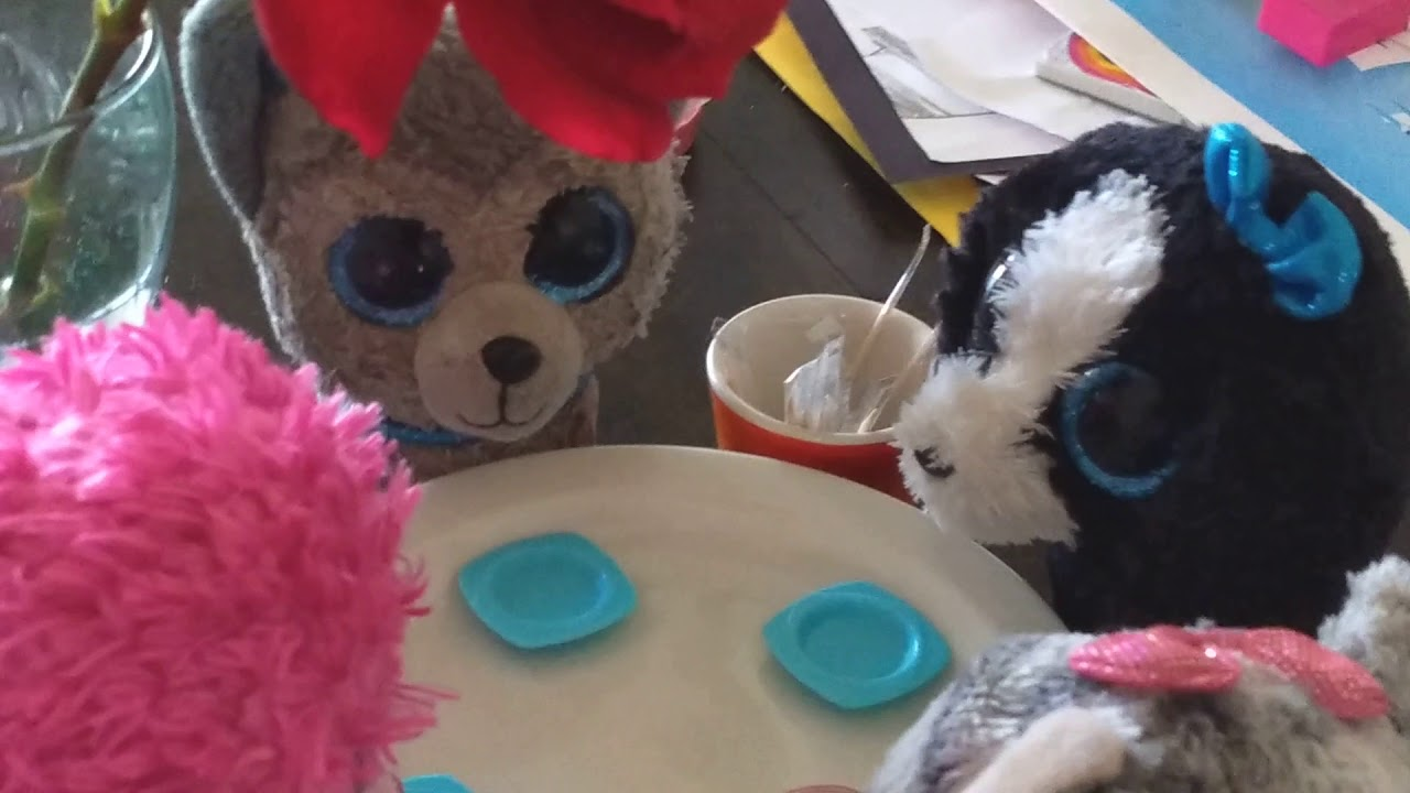 b0033b74c56 Beanie boo s dinner (ki-ki and Slush others) - YouTube