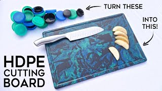 Cutting Board made from Recycled HDPE Plastic