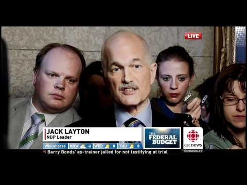 Jack Layton Reacts To The Harper Budget