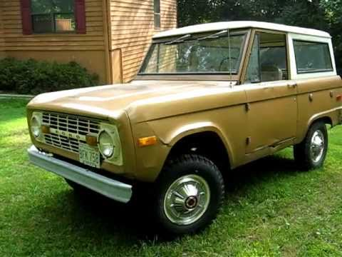 1971 ford bronco     all original including paint  youtube