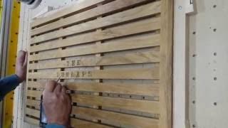 Carving Name Onto Teak Door Mat For Wedding Gift. Part 2 Of 2.