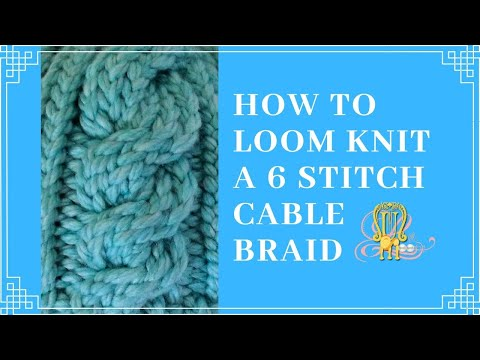 How to Loom Knit a 6 Stitch Right Cable Cross - YouTube d6b3c3db61a