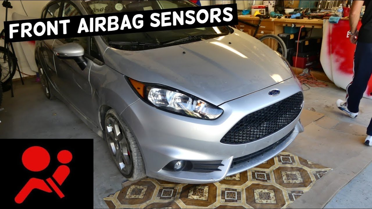 WHERE IS THE FRONT AIR BAG SENSOR ON FORD FIESTA MK7 ST