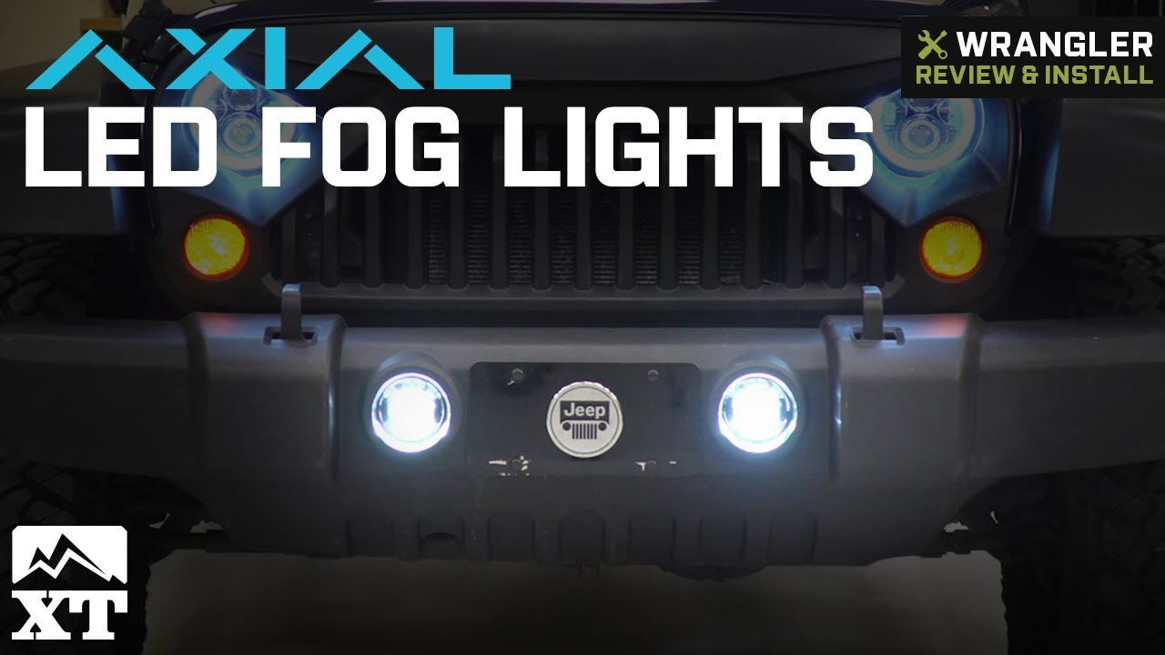 Jeep Wrangler Fog Lights >> Jeep Wrangler Axial Led Fog Lights 2007 2018 Jk Review Install