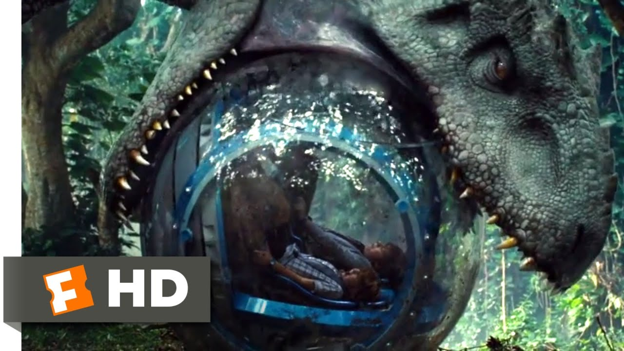 Jurassic World 2015 Indominus Attacks The Gyrosphere 3 10 Jurassic Park Fansite Youtube