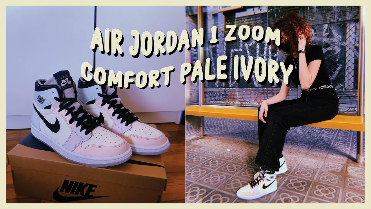 Air Jordan 1 Zoom CMFT Easter / Pale Ivory | Unboxing, review on ...