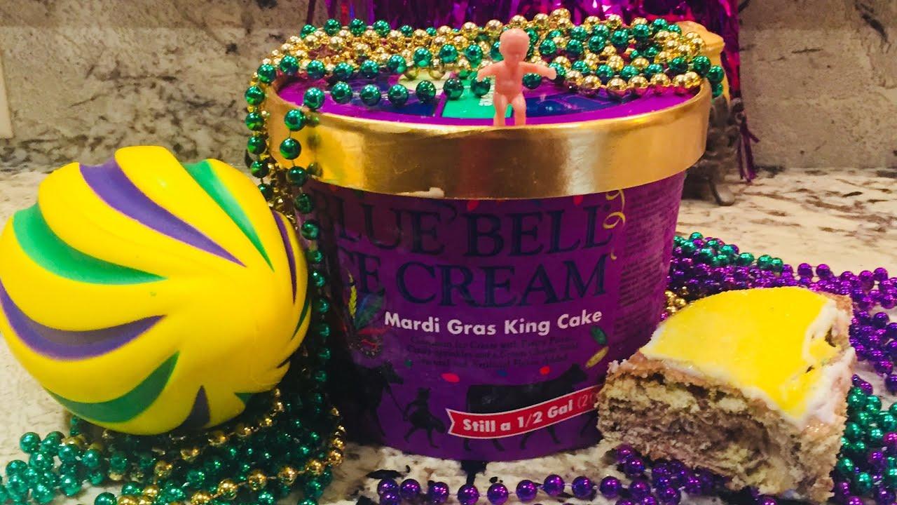 New Blue Bell Mardi Gras King Cake Flavor Does It Taste Like
