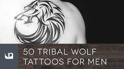 50 Tribal Wolf Tattoos For Men