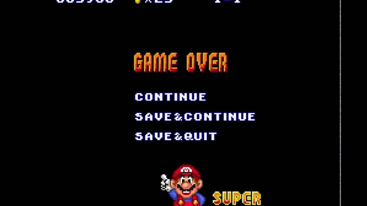 Image result for Mario Brothers Game Over