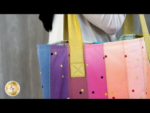 How to Make a Large Jelly Roll Tote | Shabby Fabrics Sewing Tutorial