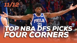 TOP NBA DFS PICKS TUES 11/12 - FOUR CORNERS - Sponsored by Superdraft - Awesemo.com