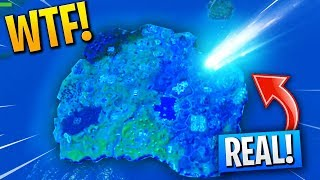 *REAL* Above FOOTAGE Of METEOR That's Going To REMOVE TILTED TOWERS! (Fortnite GLITCH!)