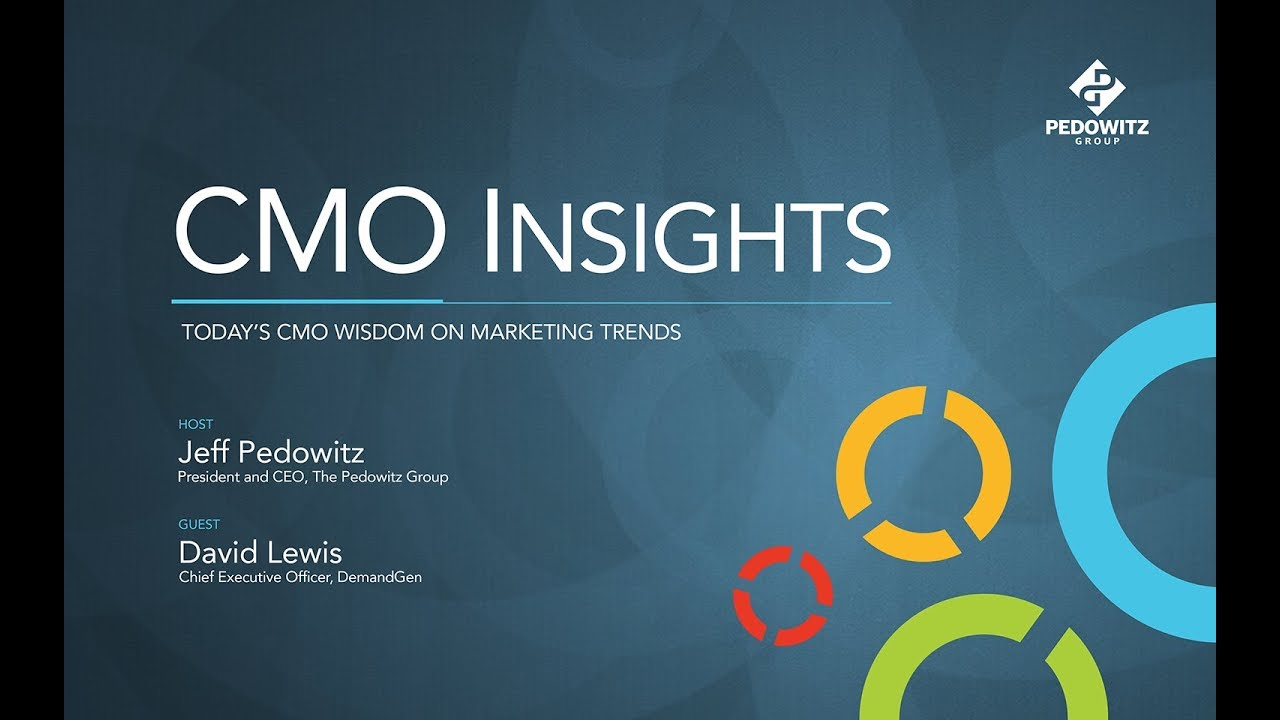 CMO Insights: David Lewis