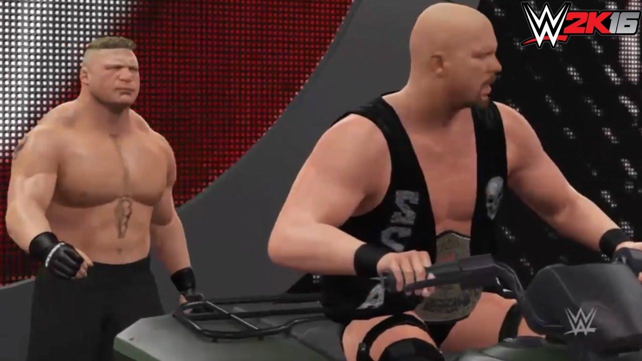 WWE 2K16 Stone Cold Steve Austin ATV ENTRANCE BREAKOUT vs ...