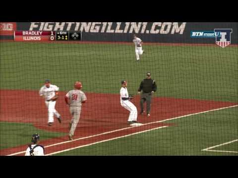 Illinois Baseball Highlights vs. Bradley 3/28/17