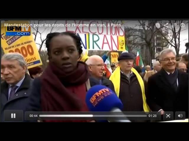 BFMTV - Manifestation pour les droits de l'Homme en Iran, à Paris