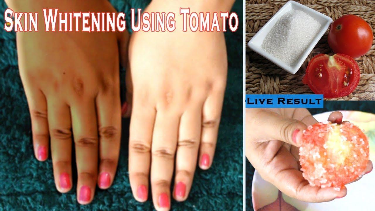 Permanent skin whitening using tomato|Get Crystal Clear Spotless  Skin,Remove Suntan,dark spots
