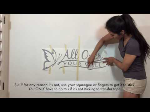 How To Apply A Wall Decal - Detailed Instructions - 2 Methods