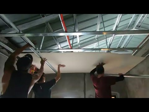 METAL FURRING/HARDIFLEX CEILING INSTALLATION