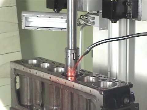 Vertical honing machine-Engine Block