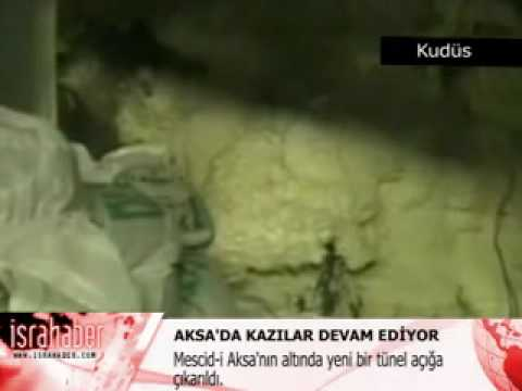 İşte Mescid-i Aksa'nın Altındaki Yeni Tünelin Görüntüleri