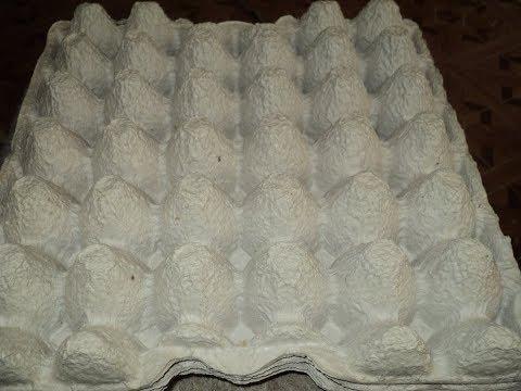 Масса из яичных лотков для уличных скульптур