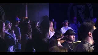 Justin Bieber & model Baskin Champion hugging & dancing at Craig David concert in LA - March 20 2018