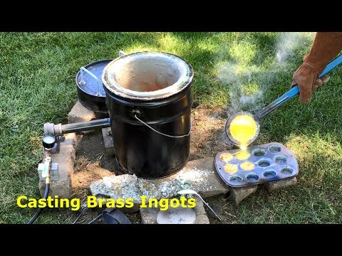 Casting Brass Ingots in the Home Foundry