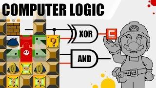 Logic Gates, Computer Logic and Calculators in Super Mario Maker !