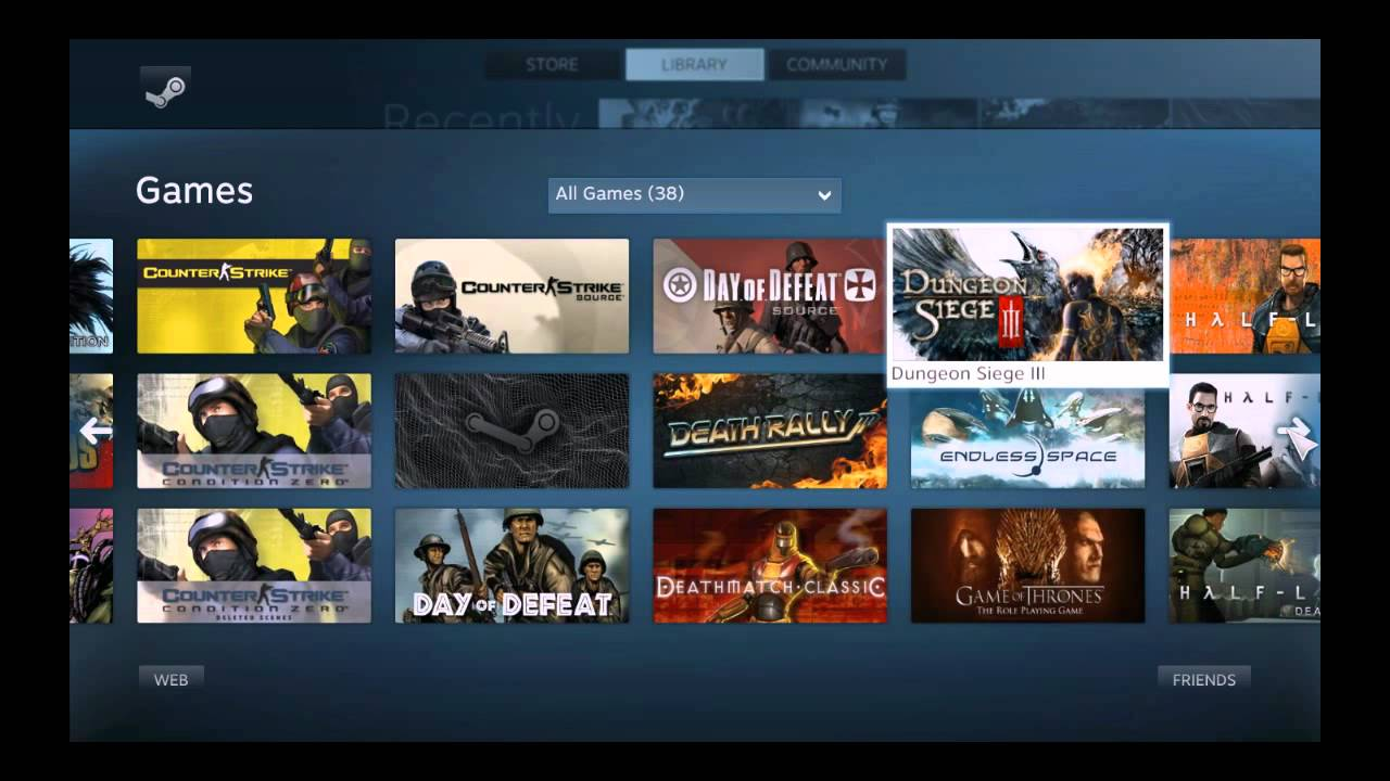 First Play: Steam Big Picture Mode