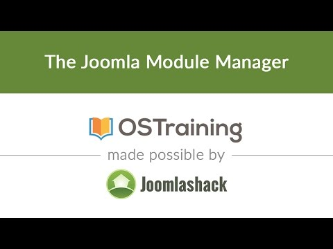 Joomla Beginner Class, Lesson 28: The Joomla Module Manager