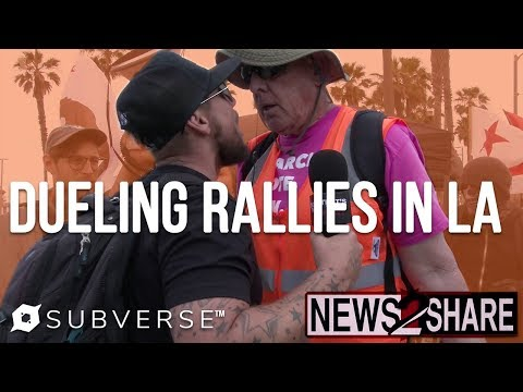 Pro Trump Protesters CLASH with Leftist Counter Protesters in LA