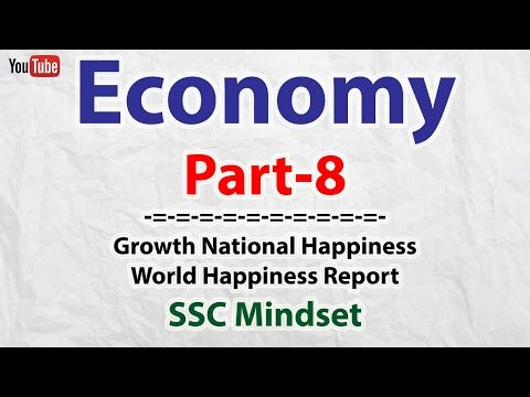 Economy Part-8 : Gross National Happiness | SSC CGL | UPSC | Bank PO
