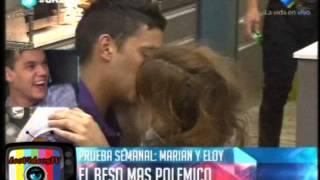 El beso de Marian y Eloy GH 2015