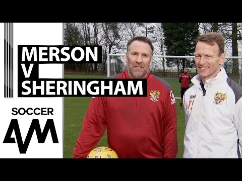 Penalty Shootout: Merson and Sheringham roll back the years!