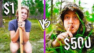 $1 VS $500 CAMO HIDE N SEEK! *Budget Challenge* Ft. Dangie Bros