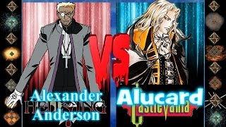 Alexander (Hellsing Ultimate) vs Alucard (Castlevania) - Ultimate Mugen Fight 2016