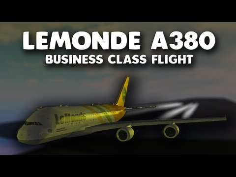 LeMonde A380 Business Class Flight! | Roblox